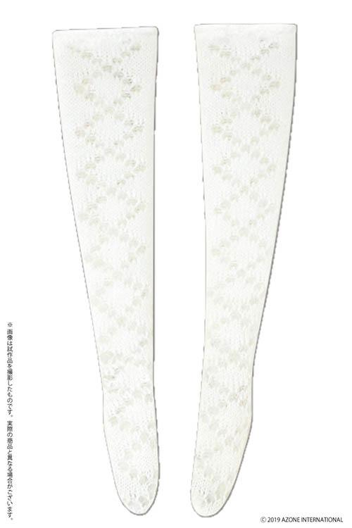 AZONE/Pureneemo Original Costume/POC475-WHT【1/6サイズドール用】PNS レーシーオーバーニーソックス
