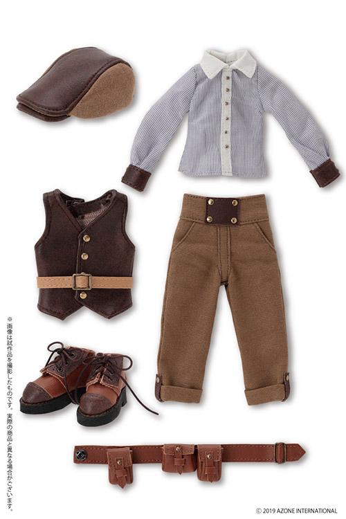 AZONE/Pureneemo Original Costume/POC480-BRS【1/6サイズドール用】PNS男の子 旅する少年セット ~Alvastaria outfit collection~