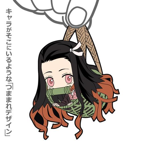 鬼滅の刃/鬼滅の刃/禰豆子 つままれ キーホルダー 籠Ver.
