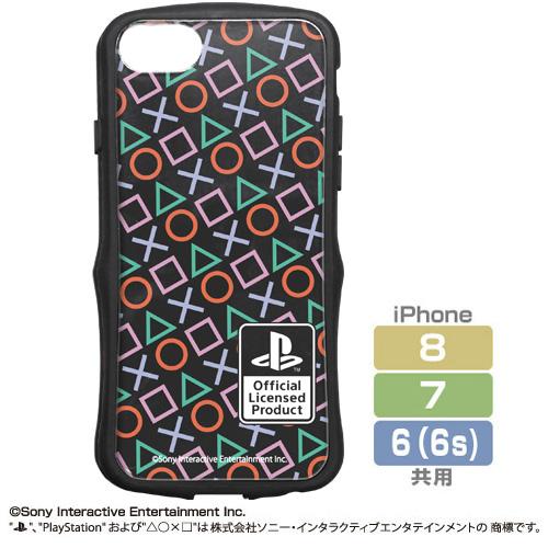 """プレイステーション/プレイステーション/TPUバンパー iPhoneケース [6・7・8共用] """"PlayStation""""Shapes"""