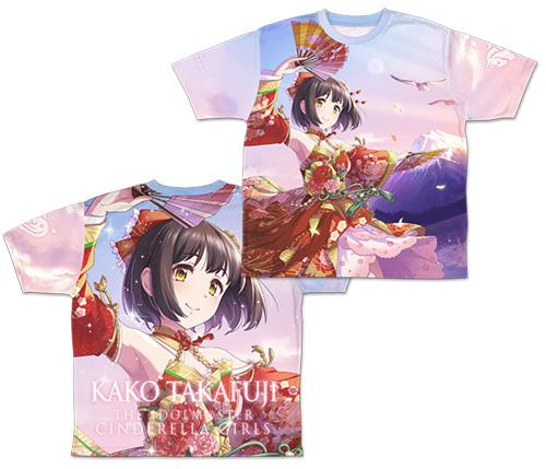 THE IDOLM@STER/アイドルマスター シンデレラガールズ/福を呼ぶ舞姫 鷹富士茄子 両面フルグラフィックTシャツ
