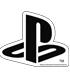 """耐水ステッカー BLACK """"PlayStation"""""""