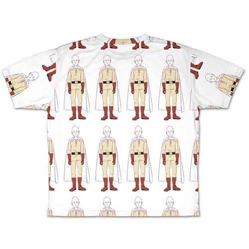 ワンパンマン/ワンパンマン/サイタマ総柄 両面フルグラフィックTシャツ