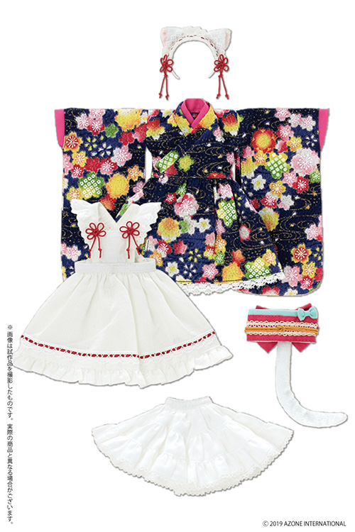 AZONE/Pureneemo Original Costume/POC474【1/6サイズドール用】PNS ねこみみ和装メイドセットIII