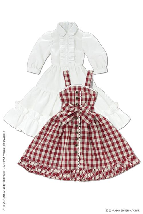 AZONE/Pureneemo Original Costume/FFC001【45~50cmドール用】45 陽だまりのふんわりチェックジャンスカセット