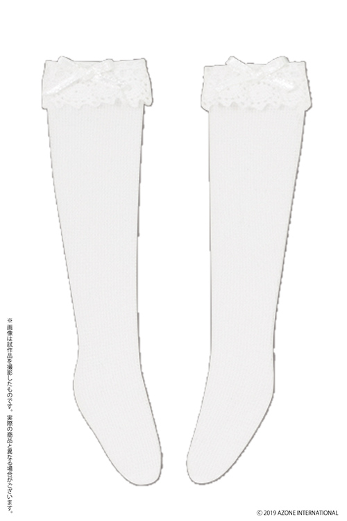 AZONE/Pureneemo Original Costume/PNM189-WHT【1/6サイズドール用】PNM レースハイソックス