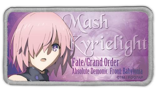 Fate/Fate/Grand Order -絶対魔獣戦線バビロニア-/FGOバビロニア マシュ・キリエライト 脱着式フルカラーワッペン