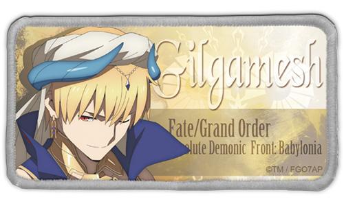 Fate/Fate/Grand Order -絶対魔獣戦線バビロニア-/FGOバビロニア ギルガメッシュ 脱着式フルカラーワッペン