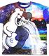宇宙モノクマ 両面フルグラフィックTシャツ