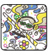 ロコのアーティスティックなフルカラーハンドタオル