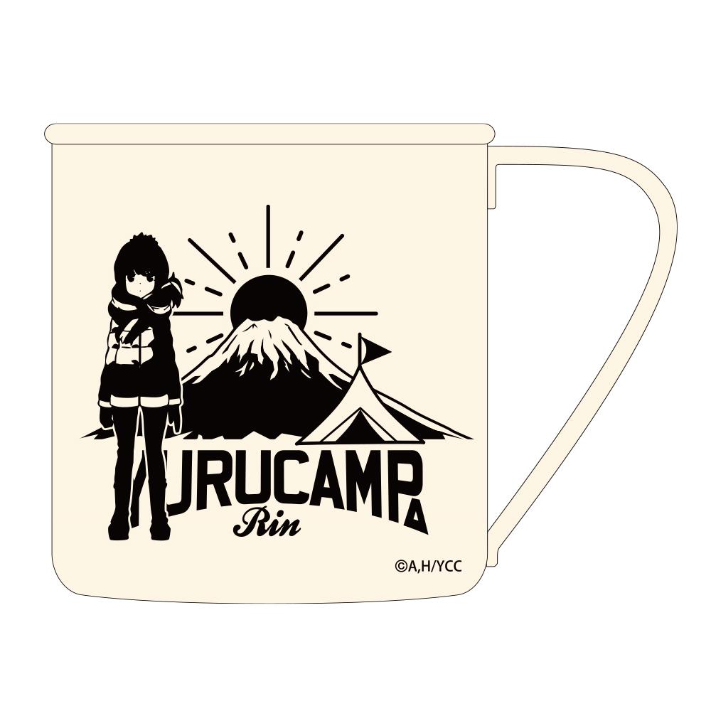 リンと富士山 塗装ステンレスマグカップ
