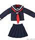 PIC349【1/12サイズドール用】1/12長袖セーラー服..