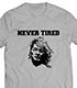 棚橋弘至「NEVER TIRED」Tシャツ(グレー)