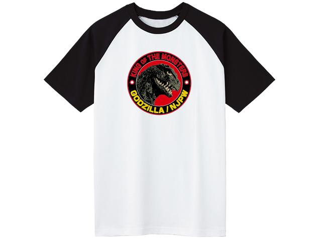 ゴジラ/新日本プロレス コラボ ラグランTシャツ