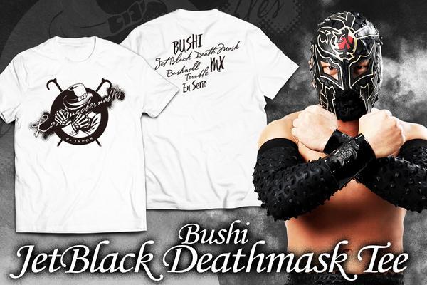 BUSHI「Jetblack Deathmask」Tシャツ