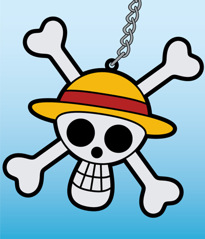 ONE PIECE/ワンピース/海賊旗ラバーキーホルダー