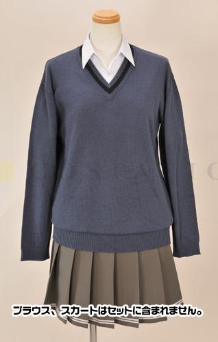アマガミ/アマガミ/輝日東高校女子制服 長袖セーター ブルーグレーver.