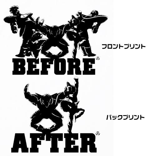 ドラゴンボール/ドラゴンボール改/ギニュー特戦隊ビフォーアフターTシャツ