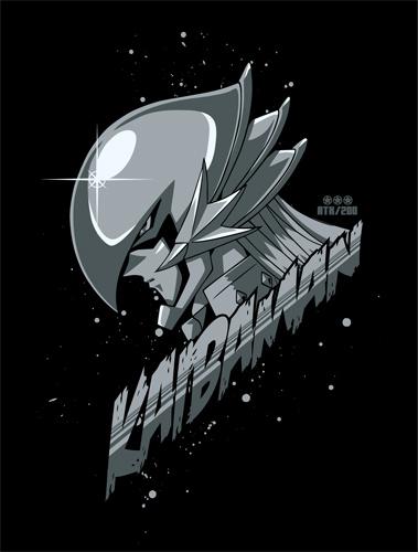 遊☆戯☆王/遊☆戯☆王デュエルモンスターズGX/正義の味方カイバーマンTシャツ