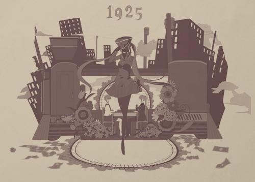 初音ミク/初音ミク 1925/1925Tシャツ
