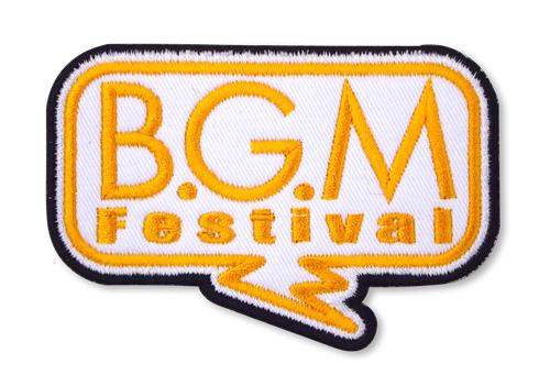 B.G.M Festival/B.G.M Festival Vol.0/B.G.M.脱着式ワッペン
