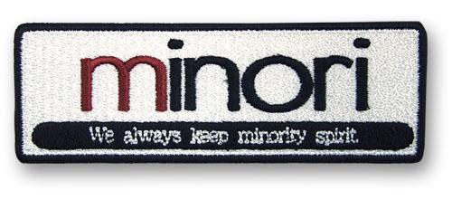 minori/minori/minoriロゴ脱着式ワッペン