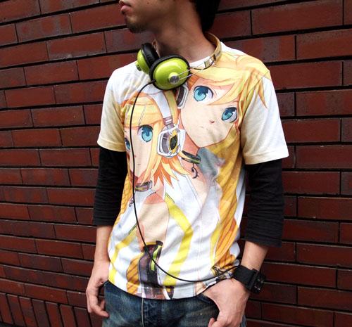 鏡音リン&鏡音レン/鏡音リン・レン・アペンド/リン・レン・アペンドフルグラフィックTシャツ
