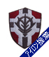 公国軍旗盾型ワッペン