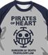 ONE PIECE/ワンピース/ハートの海賊団ラグランTシャツ