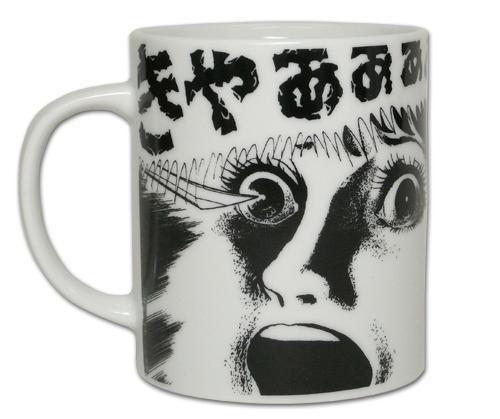 恐怖/恐怖/恐怖フェイス白のマグカップ
