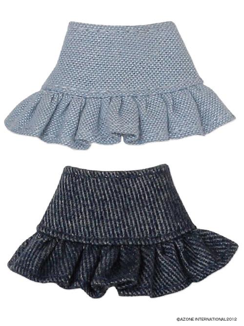 AZONE/ピコニーモコスチューム/PIC027【1/12サイズドール用】デニムフリルティアードスカートセット
