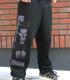 黒猫スウェットパンツ