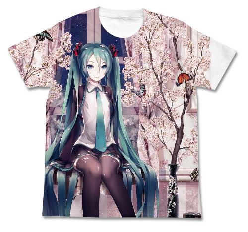 初音ミク/初音ミク/春ミク フルグラフィックTシャツ