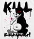 ダンガンロンパ/ダンガンロンパ 希望の学園と絶望の高校生 The Animation/モノクマ殺しあえ!Tシャツ