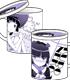 黒猫ラブリーフタつきマグカップ