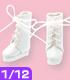 AZONE/ピコニーモコスチューム/PIC049【1/12サイズドール用】1/12レースアップショートブーツ