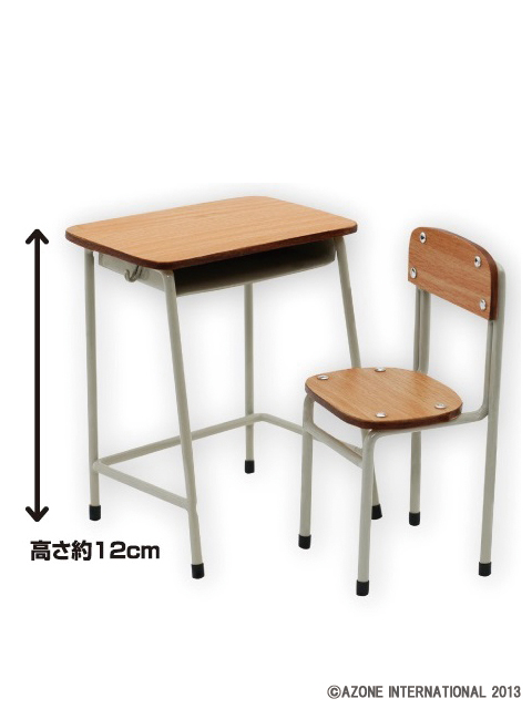AZONE/Azone Furniture/AFN026【1/6サイズドール用】学校の机とイス